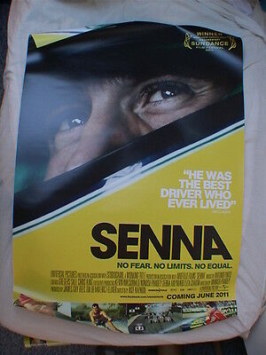 Senna - one sheet movie poster, original, new, double-sided original. F1, Prost