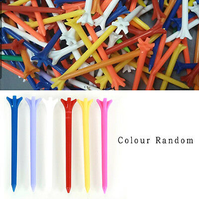 100 Pcs Pack Professional Frictionless Golf Tee Wheat Golf Tees Plastic 70mm FT