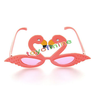 Funny Pink Flamingos Costume Glasses Novelty Sunglasses for Birthday