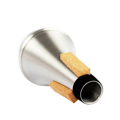 For Trumpet Practice Aluminium Alloy Straight Trumpets Mute Silencer