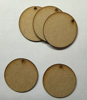 wooden 3 mm mdf circle with hole 50mm and 75mm craft blank