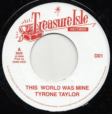 ** Tyrone Evans  If This World Were Mine  Highly Sought After Treasure Isle Boss