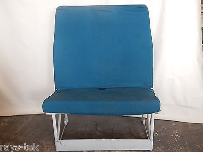 Ex RAF Nimrod Aircraft Galley Seat With Blue Fabric Covering