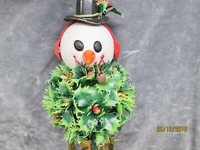 Vintage Christmas Snowman Wind Chime In Original Box Made In Hong Kong
