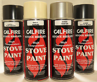 Stove Paint - Calfire Stove Bright - Fire Paint - Various Colours - 400ml Spray