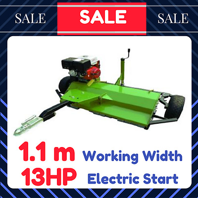 NEW FLAIL MOWER SELF PROPELLED 1.1m PETROL Driven 13HP Electric Start