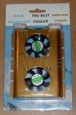 Ventola HARD DISK Protection HDD Cooler 2xBrushless Fan