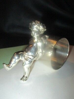 Baby's First Step Putti Cherub Angel Silver Plate Napkin Ring