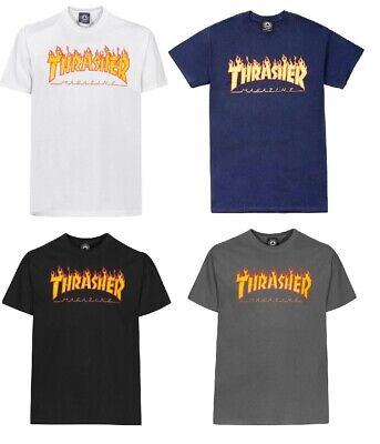 Thrasher T-Shirt Fire Flame Skateboard Magazin Street Wear Tshirt S M L XL