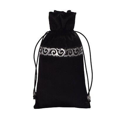 1pc Black Tarot Pouch Bag Case Drawstring Bag Tarot Cards Wicca Pagan Storage