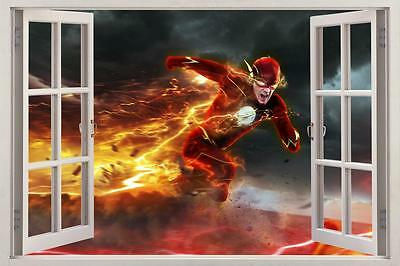 The Flash 3D Window Decal View view Wall Sticker Home Decor Art