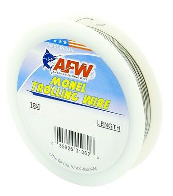 Fishing Line AFW H040-4 Monel Trolling Wire 40Lb Soft Wire 300' .25 Dia