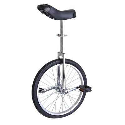 "20"" Wheel Unicycle Uni Cycle Balance Fun Bike Sports Scooter Circus Youth Silver"