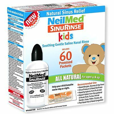 NeilMed Sinus Rinse Kids Kit (Bottle + 60 Sachets) - Buy from a trusted pharmacy