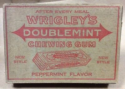 Wrigleys Double Mint Chewing Gum Box 1920s Top Lid Of Box Only FREE SHIPPING