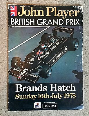 British GRAND PRIX 1978 FORMULA ONE F1 Official Race Programme Brands Hatch