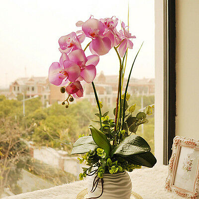 BG953 Artificial Silk Butterfly Orchid Flowers Wedding Home Decoration 1pcs