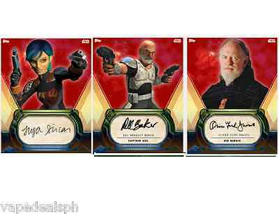 3 Color Burst Signatures Topps Star Wars Card Trader Sabine Wren Sio Bibble Rex