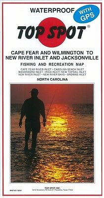 Top Spot Map N255 Cape Fear/Wilm to New River Inlet/Jacksonville