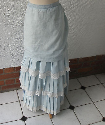 ANTIQUE VICTORIAN COTTON SUMMER SKIRT c.1887-9, period events,theatrical costume
