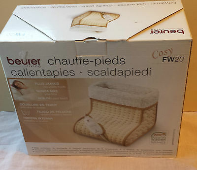Beurer Fw20 Heated Cosy Foot Warmer With 3 Heat Settings - Vgc - Boxed