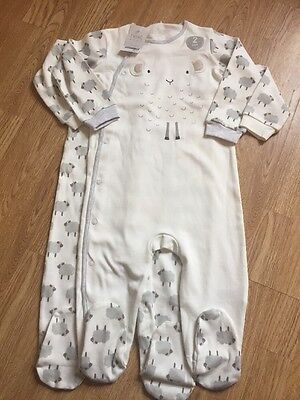 Next Unisex Sheep Sleepsuits/ Baby Grows BNWT 12-18 Months