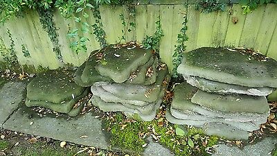 """Job lot of 18 Natural Weathered Concrete Stepping Stones 21"""" x 15"""""""