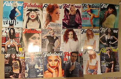 Job Lot Fabulous TV Magazines 2010-2016 x 40 all in new condition Celebs Models
