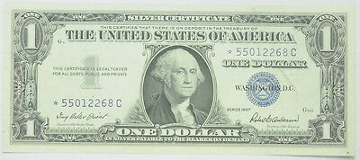 1957SERIS United States $1 One Dollar Silver Certificate Star Note 57STAR1XF
