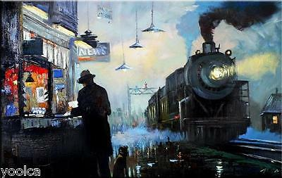 """Modern Art - Orient Express 79x49"""" - Abstract 100% Hand Painted oil on canvas"""