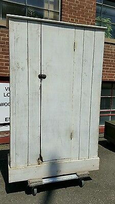 Primitive Antique Jelly Cabinet Cupboard Oversized New England Knotty Pine