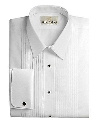 Tuxedo Shirt By Neil Allyn - 100% Cotton with Laydown Collar and French Cuffs