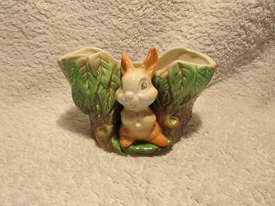 Lovely Vintage Item- Eastgate Fauna Baby Bunny Posy Log Or Egg Cup Holder
