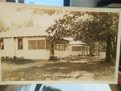 Vintage Old MICHIGAN Postcard Hammond View Houghton Lake Resort Cottages PHOTO
