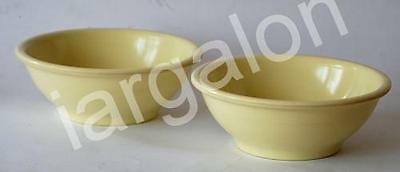 Two Boonton Ware Yellow Cereal Soup Bowls 306-11 USED