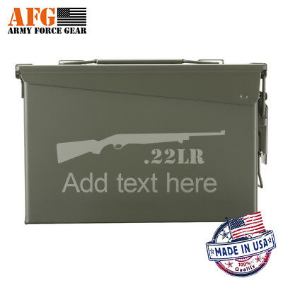 NEW Metal Ammo Can 30 Cal 22LR Hunting Riffle Customized Engraved