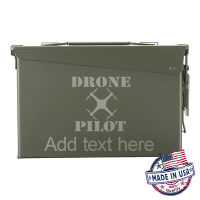NEW Metal Ammo Can 30 Cal Drone Pilot Customized Engraved
