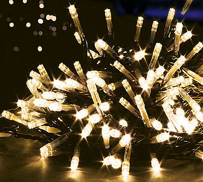 Set 120 Warm White LED Supabrights Christmas Fairy Lights Premier