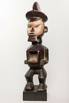 Teke Tege Female Figure, Congo, Gabon, African Tribal Arts, African Sculpture