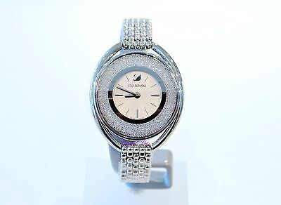 Swarovski Authentic Crystalline Oval White Clear Watch 5181008 Brand New In Box