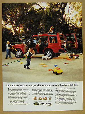 1994 Land Rover Discovery red landrover kids toys photo vintage print Ad