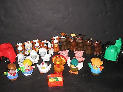 Fisher Price Little People Farm Animals Accessories Figures Toy lot