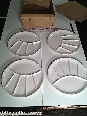 4 New Boxed Vintage Japan Divided Plates
