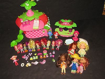 Strawberry Shortcake Very Berry Cafe Dolls Accessories Furniture Huge Toy Lot