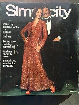 1973 SIMPLICITY Store Counter Pattern Book Fashion Catalog December Vintage