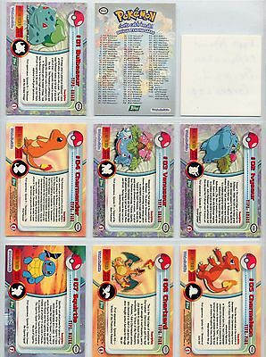 Complete Topps Pokemon Series 1 - Set of 90 New Green logo, TV Animation cards!