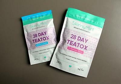 2-Skinny Mint Teatox 28 Day Natural Weight Loss - Morning Boost and Night Cleans