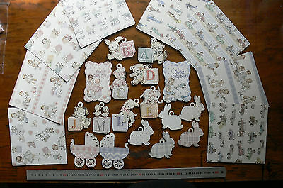 SWEET BABY 6x6 Kit 8 Diff Designs 3 of Ea & Contrast Back + 4 Die Cut Sheets C89