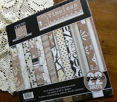 TIMELESS Collection Kit 12x12 - 22 Sheets - Bazzill Basics Paper