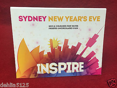 2015 SYDNEY NEW YEARS EVE 1/2oz SILVER COLOURED COIN